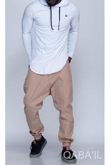Qabail hooded long sleeve t-shirt