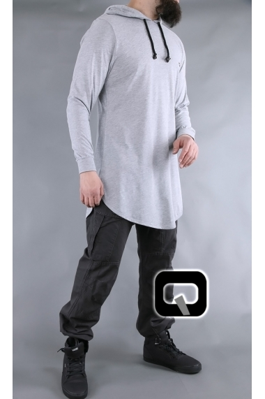 Qabail hooded long sleeve t-shirt