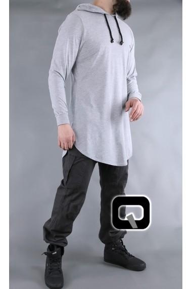 Tee shirt capuche Qabail manches longues