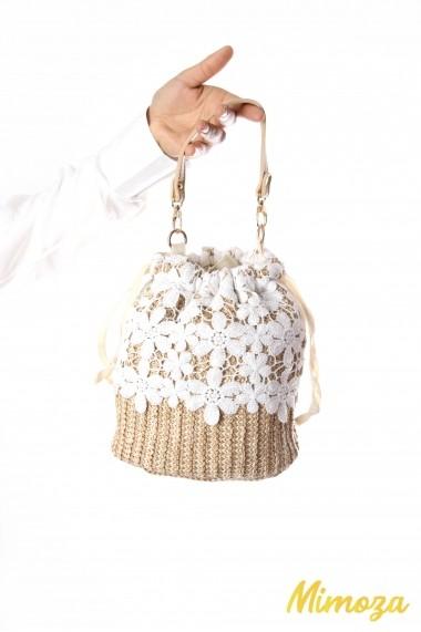 Wicker lace purse