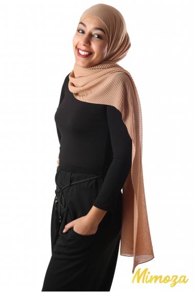 Hijab Mousseline Plissé