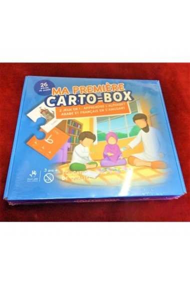 PUZZLE MY FIRST CARTO-BOX - 2 GAMES IN 1: LEARN THE ARAB AND FRENCH ALPHABET WITH FUN - MUSLIMKID