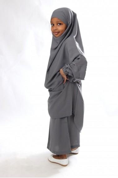 Ensemble Jilbab Jahida avec jupe