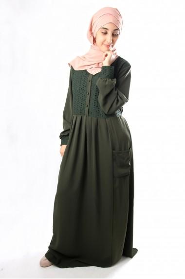 Roberta dress with English lace
