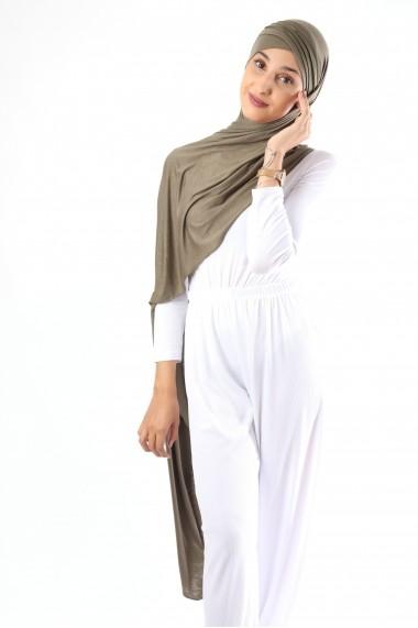 Hijab Firdaws prêt à porter croisé strié
