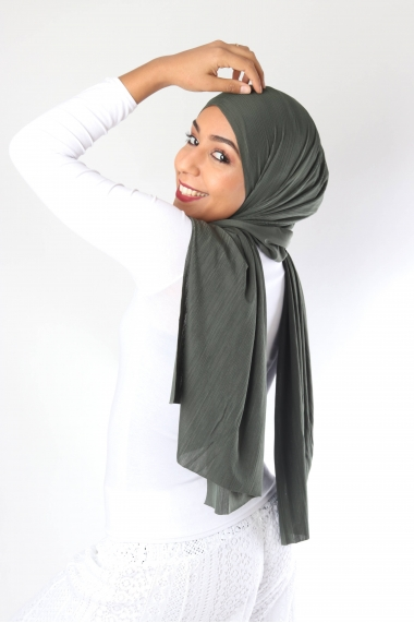 Lycra pleated hijab