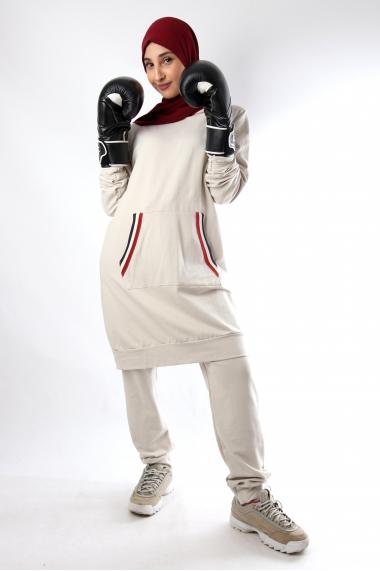 Ensemble Sportwear tunique capuche et pantalon