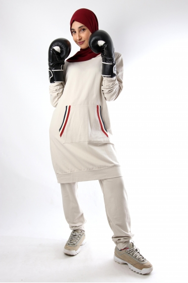 Sportwear tunic set hood and pants