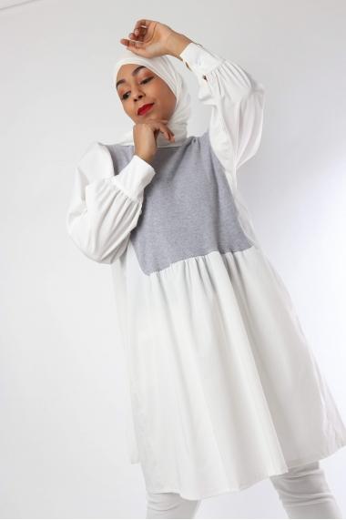 Chemise Chana plastron tricot