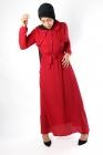 Classy dress with buttonhole and bolero