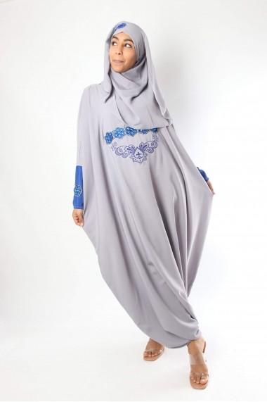 Abaya combinaison avec hijab Alfyna