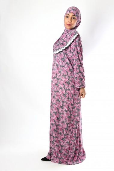 Robe de prière hijab intégré