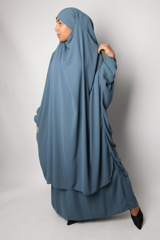 Half jilbab / Straight skirt El Bassira Caviary
