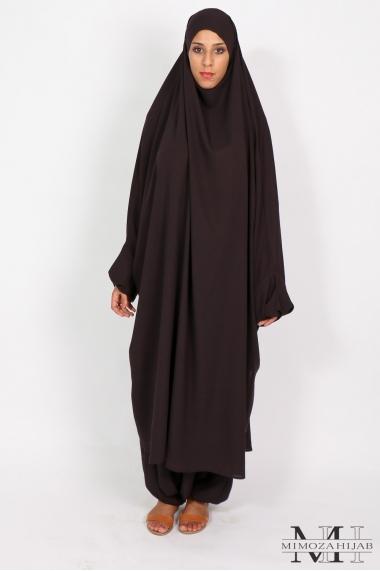 Half jilbab / Harem El Bassira Microfiber Lightweight