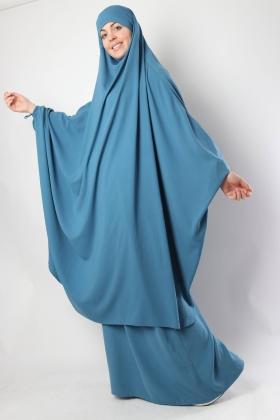 Jilbab papillon / Jupe droite El Bassira Caviary