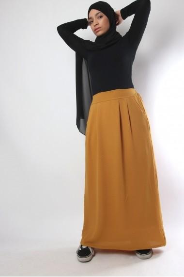 Long skirt in crepe