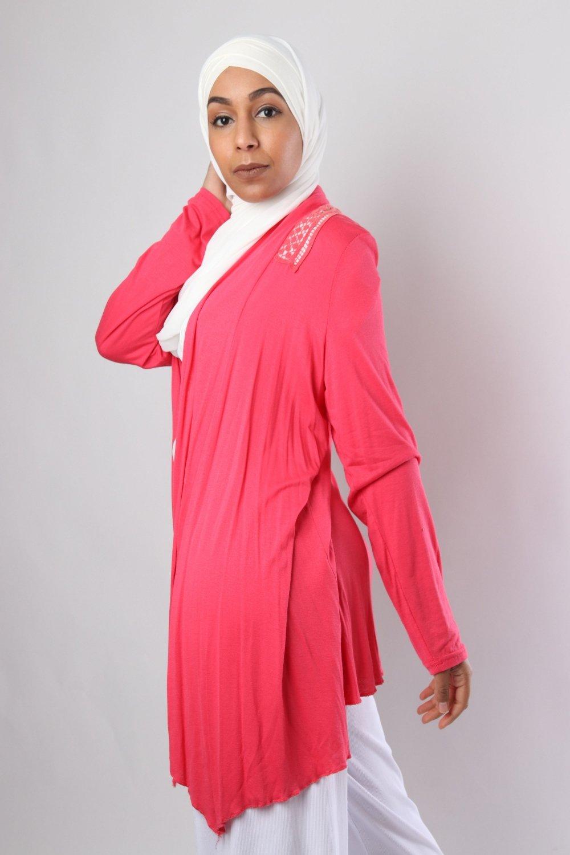 Sheyla Long sleeveless cardigan