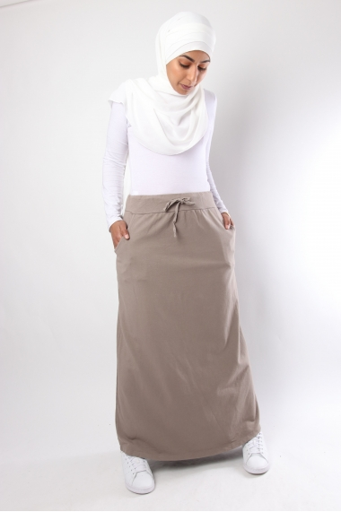 Sportwear long skirt with pockets