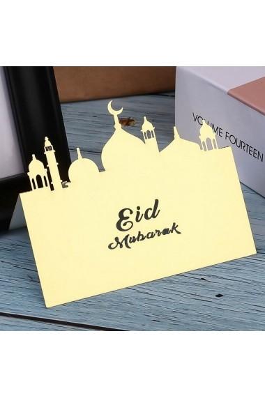 Pancarte décorative Eid Mubarak lot de 10