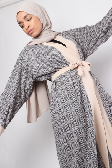 Kimono Kemaria à carreaux