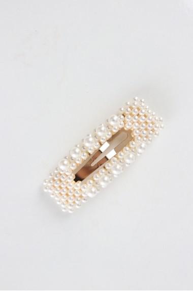 Barrette clip perles