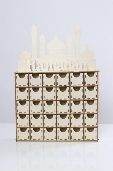 Calendrier de l'avent ramadan en bois