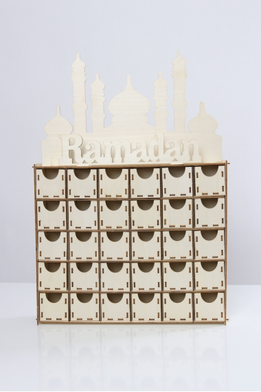 Ramadan Advent Calendar in wood