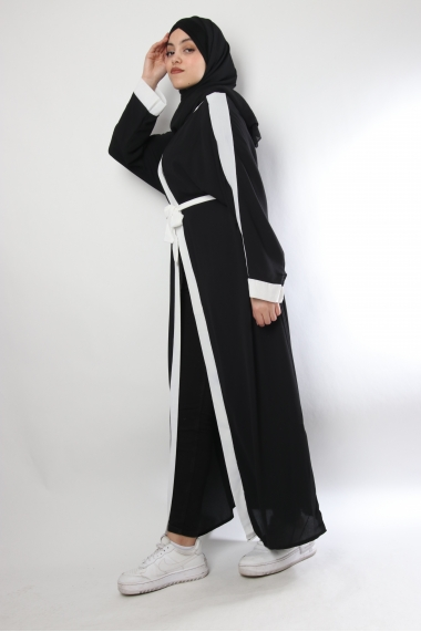 Kimono crêpe bicolore