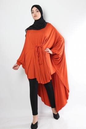Butterfly tunic with gathers