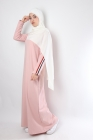 13 sportwear long dress with stripes on the sleeves
