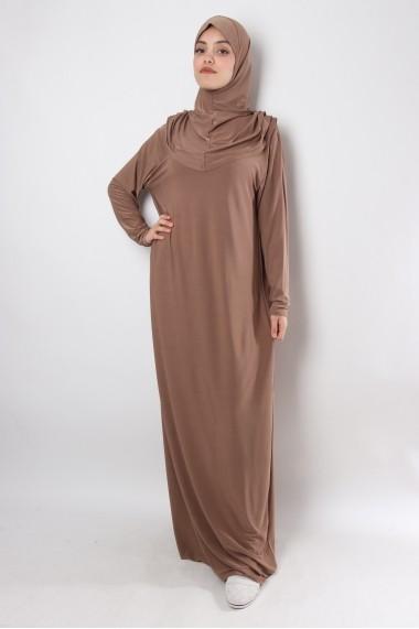 Robe prière hijab intégré Rahama