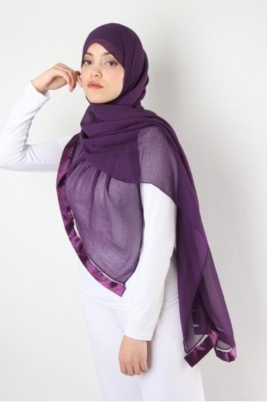 Maxi hijab Nana rectangulaire crochet satin
