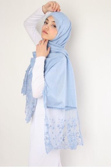 Hijab flower perlé
