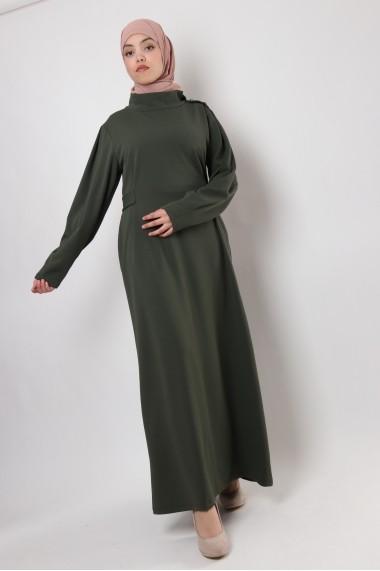 Robe longue MARJANE Col montant large