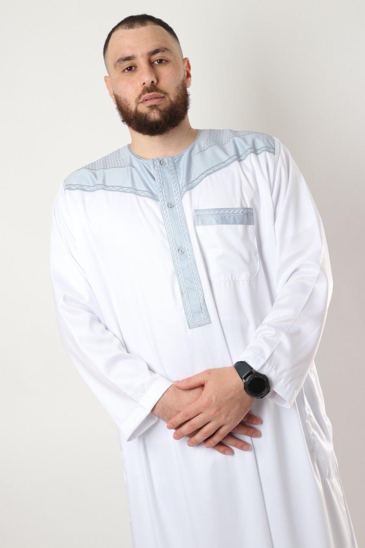 Qamis Al Atlas Bicolor Long Sleeve