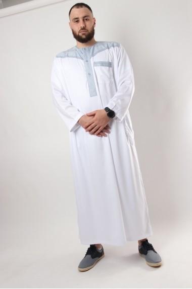 Qamis Al Atlas Bicolore Manche longue
