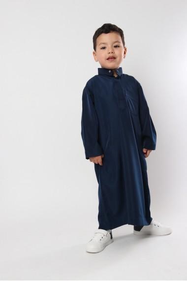 Qamis child high collar
