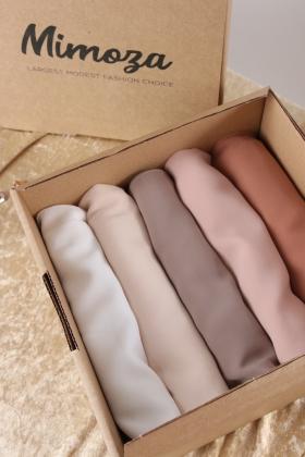 Box Hijab mousseline