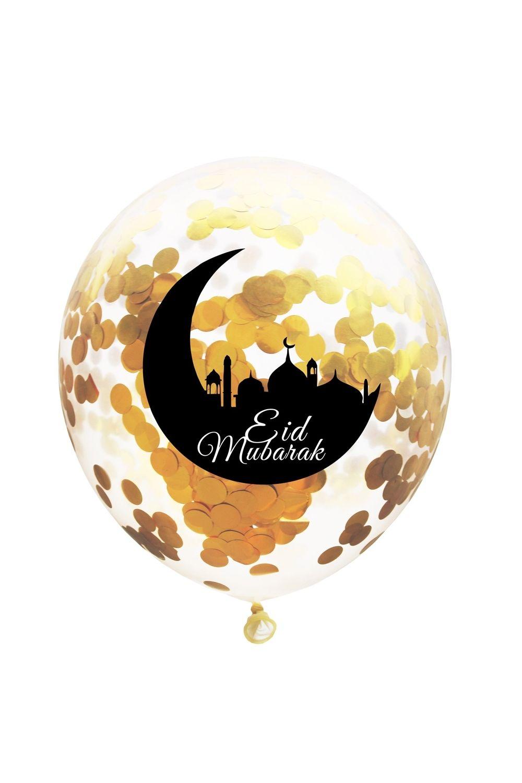 Lot de 6 ballons confettis lune et mosquée