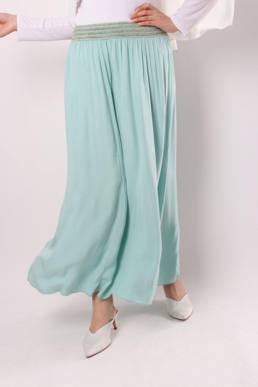 Waves cotton skirt