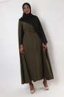 Rayhanna dress with integrated cape