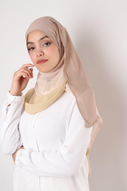 Tricolor chiffon shawl
