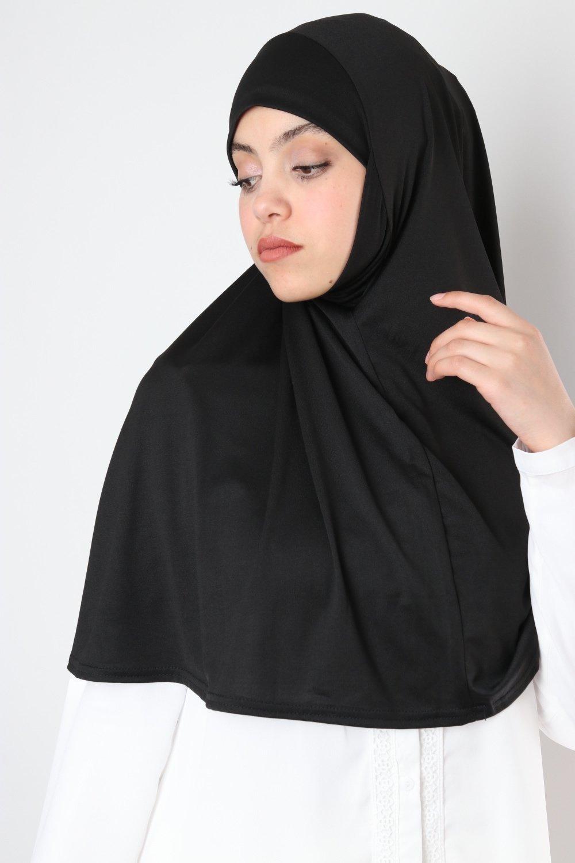 Hijab une pièce cache menton