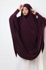 Cape de jilbab papillon avec manche en coton