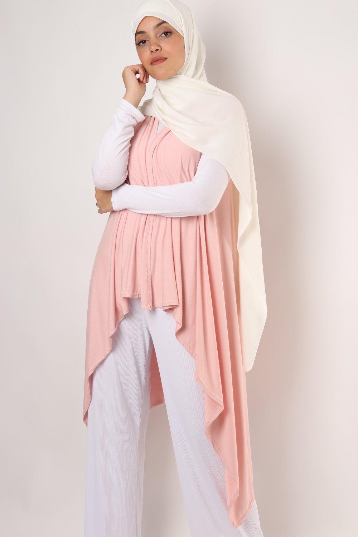 Cardigan sleeveless Asymmetric