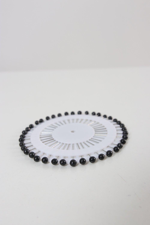 Rondelle d'aiguilles noires