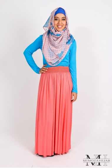 Waves cotton skirt