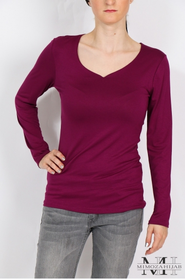 Body long sleeve V-neck