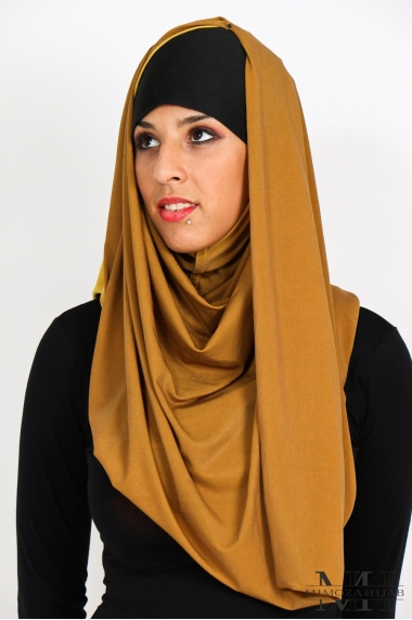 Snood bicolore