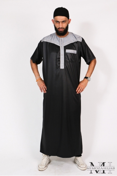Qamis Al Atlas Bicolore Short Sleeve